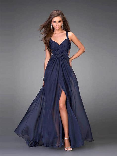 a line v neck chiffon floor length dress things to wear