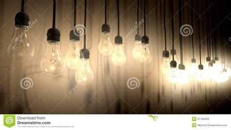 The Light In The by Light Bulb Hanging Wall Arrangement Perspective Royalty