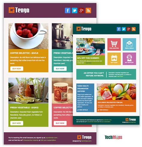 tengo metro style free responsive email template