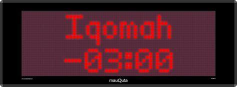 Running Text 36 X 164 Warna Merah jam digital waktu sholat mq 36 jaj merah toko rizki jaya