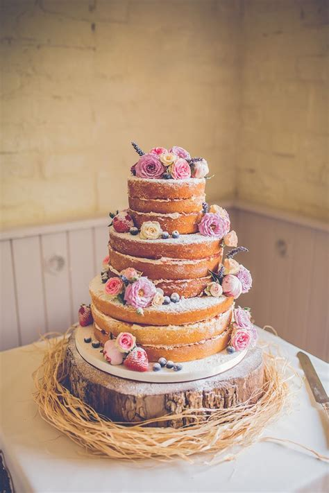 naked wedding cake sopley mill   Best   Pinterest