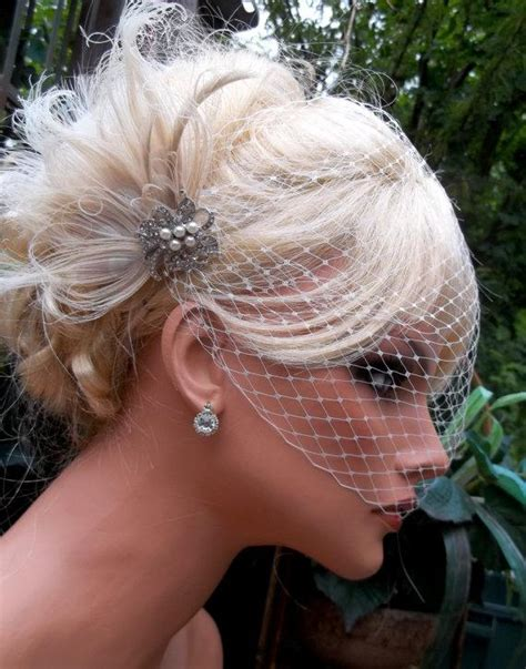 Wedding Hair With Fascinator by Wedding Bridal Hair Fascinator And Net Birdcage