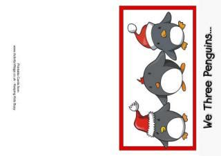printable christmas cards activity village learn to draw a penguin