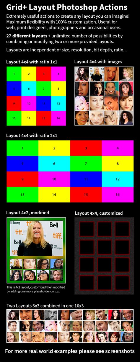 photoshop layout actions grid layouts photoshop actions on behance
