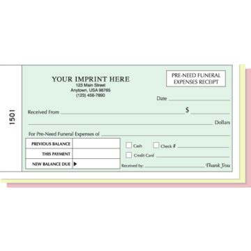 funeral receipt template pre need funeral expenses receipt book hd supply
