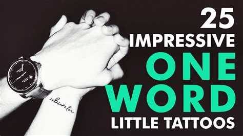 words to get tattooed 25 impressive one word tattoos