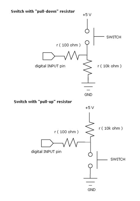 what is the use of pull up resistor in microcontroller circuit desolator pull up and pull resistor