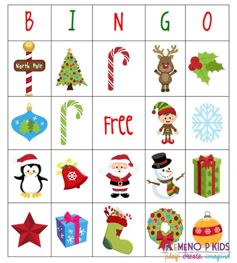 printable christmas bingo card generator holiday bingo games elemeno p kids