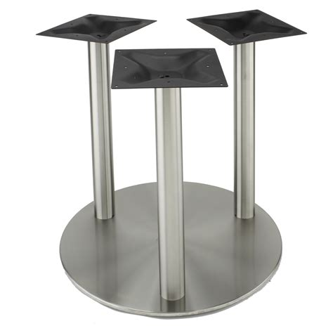 stainless steel table bases dining rfl750x3 stainless steel table base rfl series table
