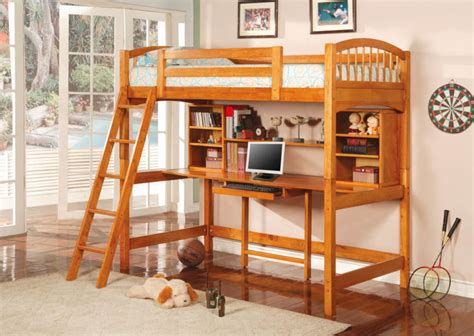 wood loft bed with desk 25 awesome bunk beds with desks for