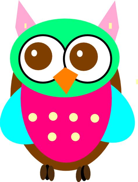 owl clipart free colorful baby owl clip at clker vector