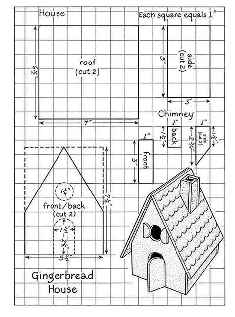 printable gingerbread house template page 001 gingerbread house patterns paper gingerbread