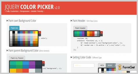 jquery color 5 best jquery color picker plugins free and paid formget
