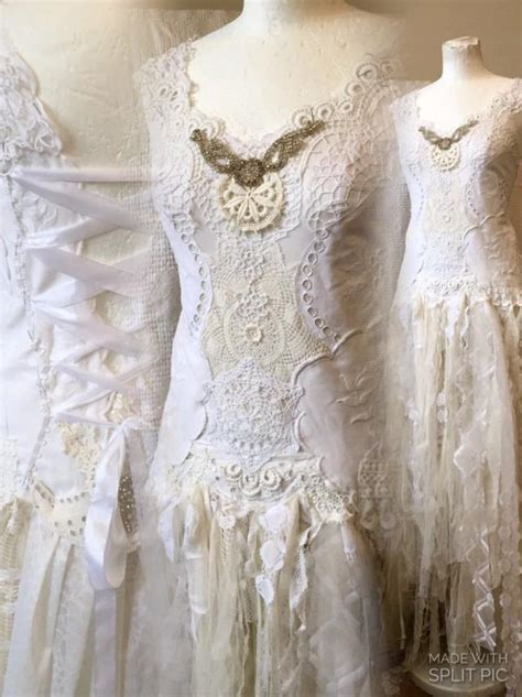 Wedding Dresses Handmade - handmade wedding dress unique boho wedding dress lace