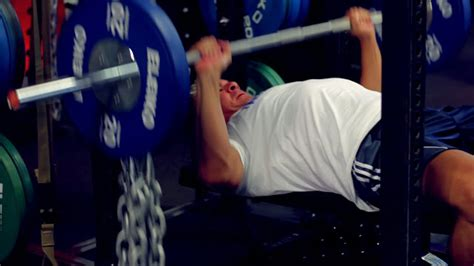 bench press with chains chains for speed strength and power t nation