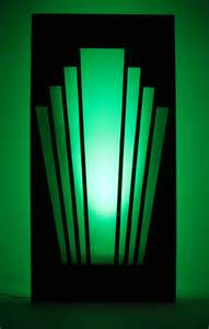 Art Deco art deco 1920 s gatsby speakeasy starburst back lit panel shown with