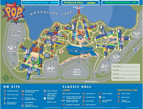 all resort map preferred rooms pop century preferred room map disney photo gallery