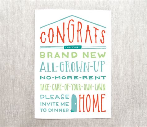 gifts for new apartment owners congrats on your new home card new house card recycled