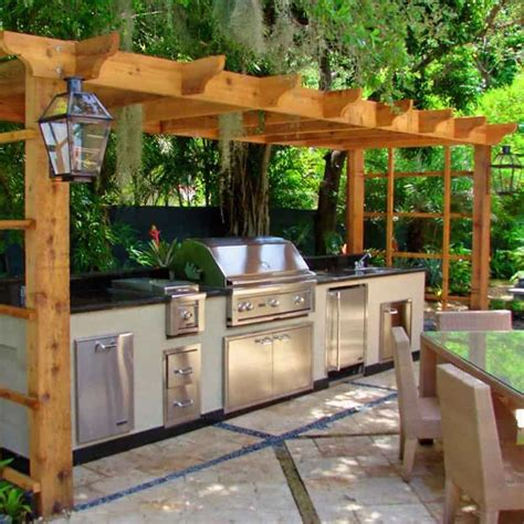 Outdoor Bbq Kitchen Designs 30 Outdoor Kitchens And Grilling Stations