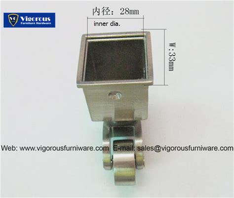 silver metal casters square cup caster vigorousfurniwarecom