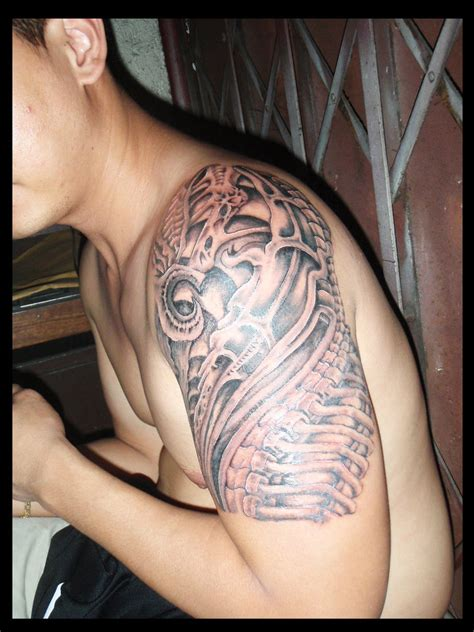 upper arm tattoo for men biomechanical tattoos and designs page 286