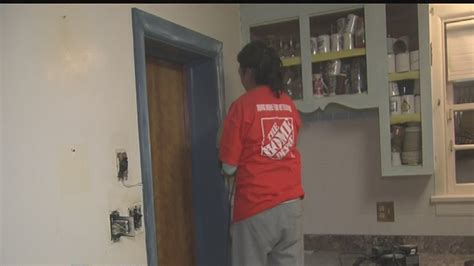 home depot volunteers team up to renovate vet s home