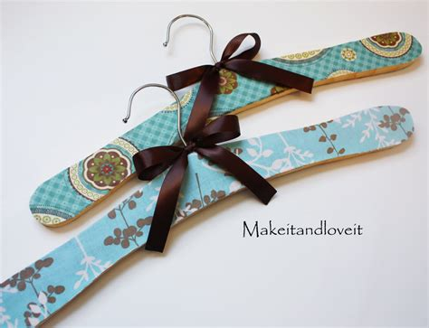 decoupage wooden hangers tutorial decorated wooden hangers with fabric and mod