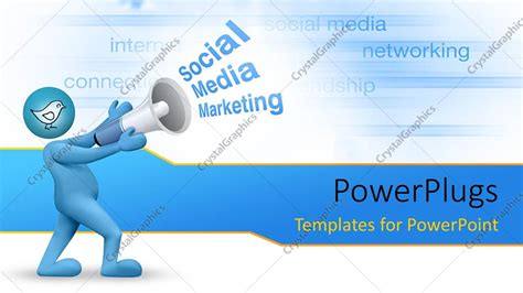 powerpoint template social media marketing concept with