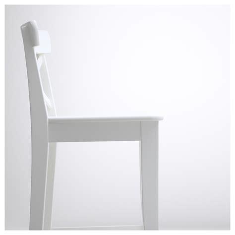 Ingolf Bar Stool White by Ingolf Bar Stool With Backrest White 63 Cm