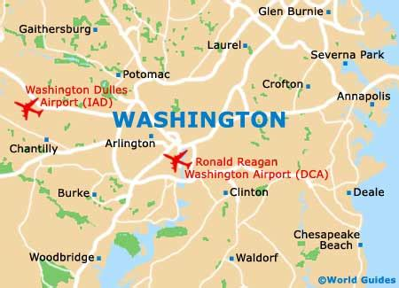 airports in washington dc map washington maps and orientation washington district of