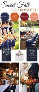 fall wedding color palette wedding theme sweet fall wedding color palette 2568318