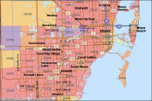 Miami Zip Code Map by Zip Codes In Florida Miami And Miami Beach