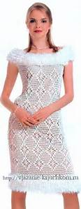 вечернее платья крючком со схемами