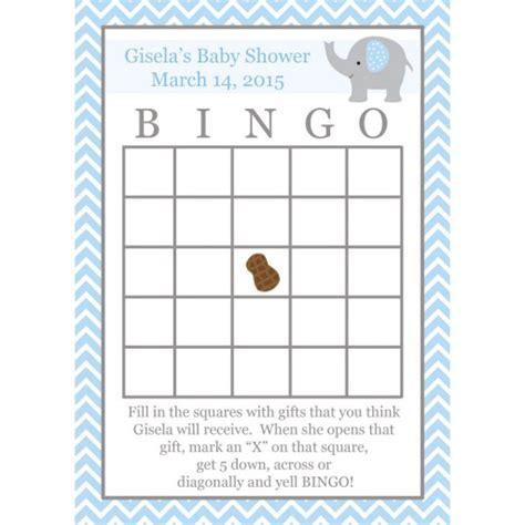 baby shower games bingo template 24 baby shower bingo game cards elephant design