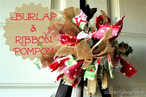 happy holiday tree ribbon make a burlap and ribbon pom pom