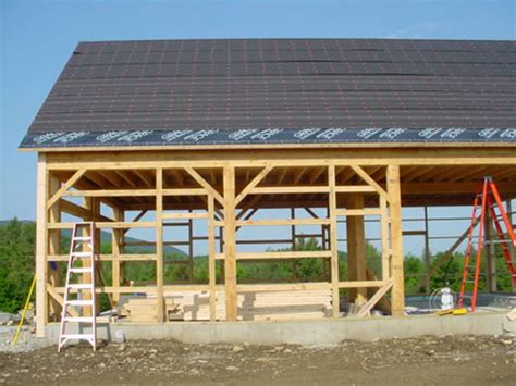 post beam construction vermont country builders