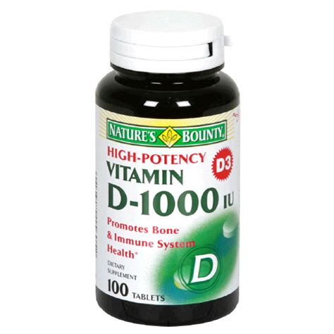 Vitamin D Generik natures bounty vitamin d 1000 units dietary supplement tablets 100 t