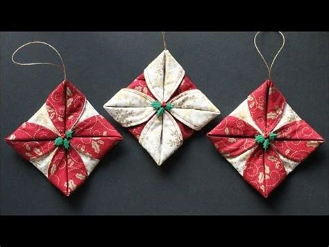 Origami Fabric Tree - origami folded fabric ornaments folded fabric ornaments