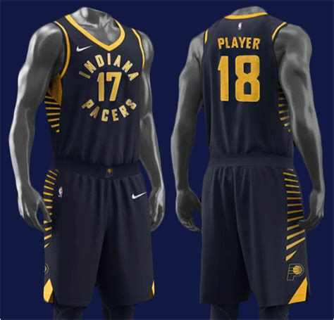 Jersey Design Indiana Pacers | indiana pacers reveal new logo designs for 2017 18 season