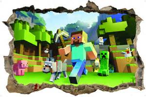 Minecraft Wall Stickers minecraft 3d style wall sticker