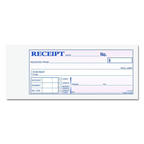 cardinal brands rent receipt book form money rcpt bk