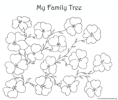 family tree template for pages family tree coloring page 29020 bestofcoloring