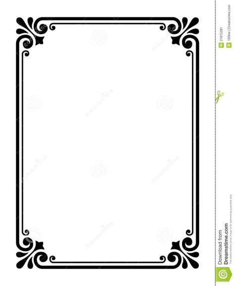 frame design simple simple victorian border google search bath pinterest