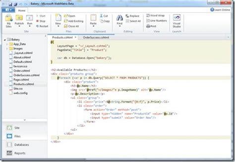 webmatrix templates free microsoft releases webmatrix new web development freeware