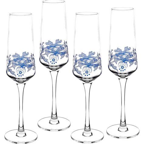 spode glasses spode blue italian chagne flutes set of 4 39 99 you
