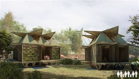 Home Asia by S Flood Proof Bamboo Houses Architecture