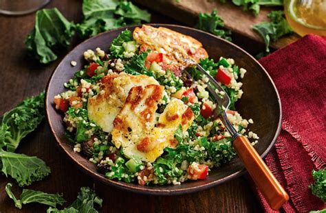 easy course vegetarian recipes kale tabbouleh recipe