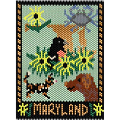 beaded tapestry patterns maryland state mini tapestry bead patterns
