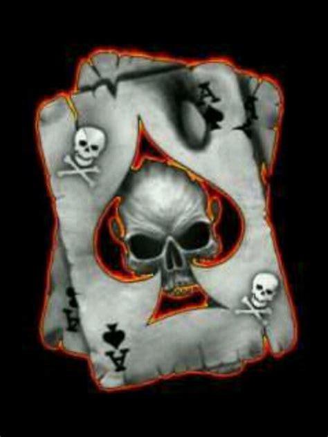 skull wallpaper playing card  wallpaper