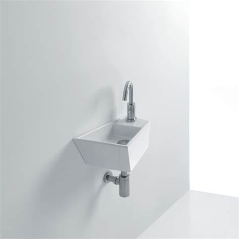 small wall mounted sinks for bathrooms high end small 16 0 quot ceramic wall mounted sink